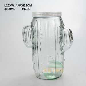 New design Customized 4L Cactus Beverage dispenser for ice juice drinking