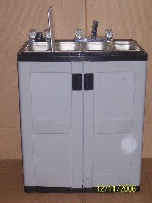 Concesi n port til cesta fregadero con agua caliente - Lavabo portatil ...