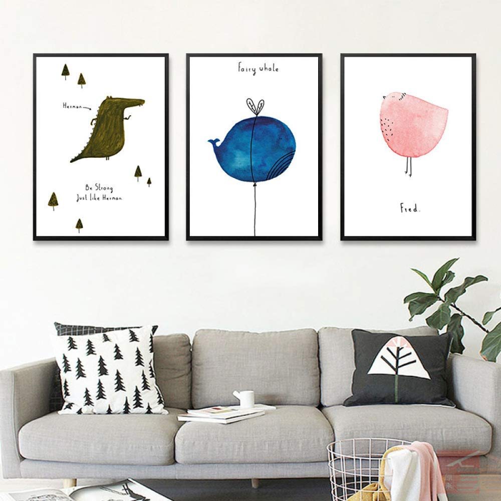 PLLP Nordic living room decorative painting, children's room paintings, bedroom dining room entrance painting, sofa decorative painting