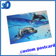 3d postcard hot picture lenticular print PET/PP hologram art gift popular craft customized