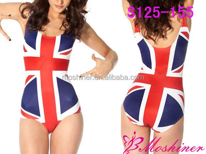 2014 della ragazza costumi da bagno bikini inghilterra bandiera della stampa digitale s125 155 - Costumi da bagno ragazza ...