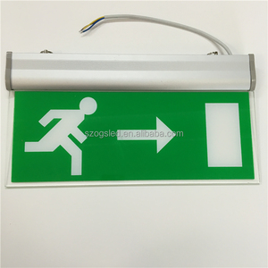 CE approval Double Sides/ Faces+Directions led exit sign/ LED emergency light