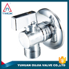 tmok 1 inch plating lockable ball valve with thread material Hpb57-3 high quality angle valve with ISO cetificte in OUJIA VALVE
