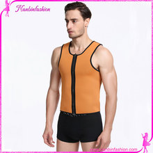 orange ultra sweat neoprene male corset with zipper