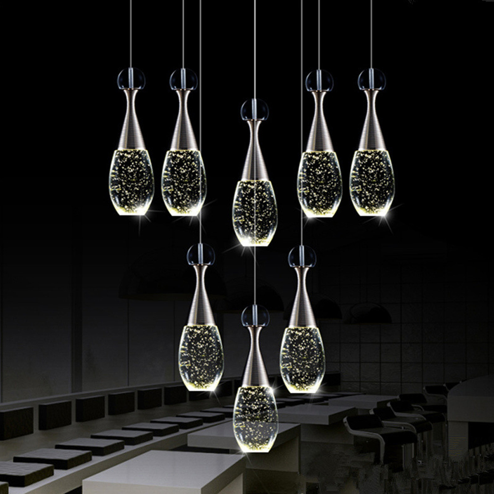 Moderne Verlichting Armatuur LED Bubble Kristallen Kroonluchter ...