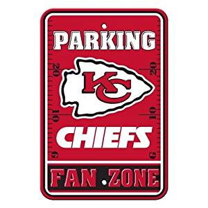 "Kansas City Chiefs NFL ""Fan Zone"" Parking Sign 12"" x 18"""