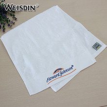 Factory custom embroidery logo luxury dobby header bar star hotel cotton terry face towel
