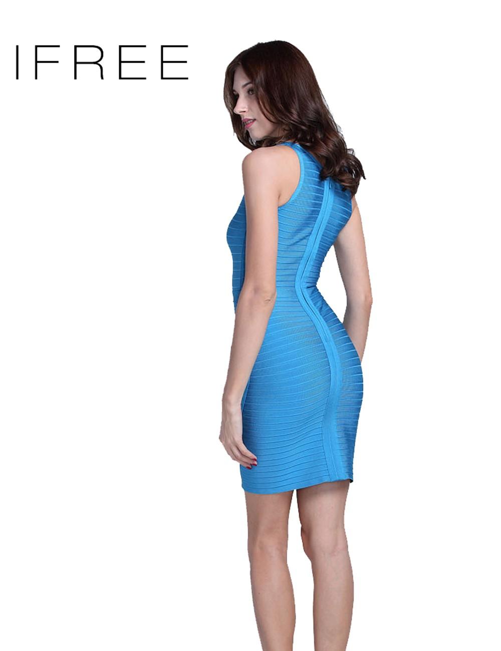 3af6f2c74 Señoras tela de rayón Vestidos nuevo Sexy vestido niñas vestido sin mangas  corte vestido Bodycon vendaje