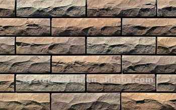 Textured Stone Wall Tiles Artficial Exterior Tile Natural Ceramic Panel Terracotta