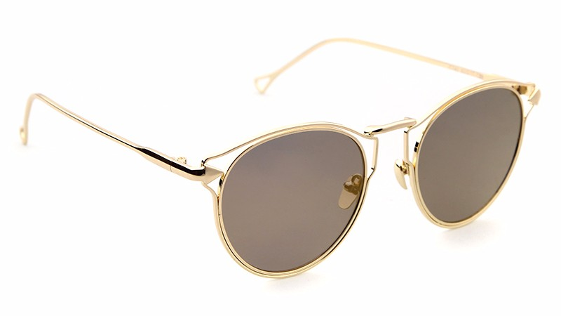 STORY Round mirror uv400 lens Sunglasses goggles round flip up sunglasses retro vintage