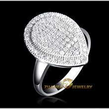 Micro pave clear cz lots 925 sterling silver 배 모양의 diamond 링