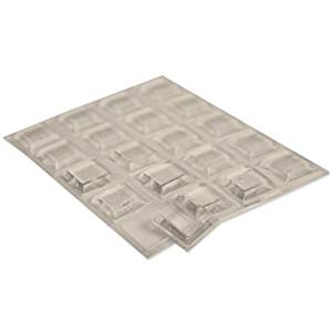Bumpers, Square (BP932) - 1 Sheet of 20 Bumpers 0.12 Inch Thick X 0.5 Inch Square