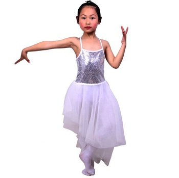 JW China dance costume supplier performance ballet mesh tutu skirt lyrical dance costume dress dancewear kids dance costume