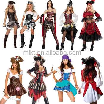 Halloween cosplay Pirates of the Caribbean costume for women  sc 1 st  Alibaba & Halloween Cosplay Pirates Of The Caribbean Costume For Women - Buy ...