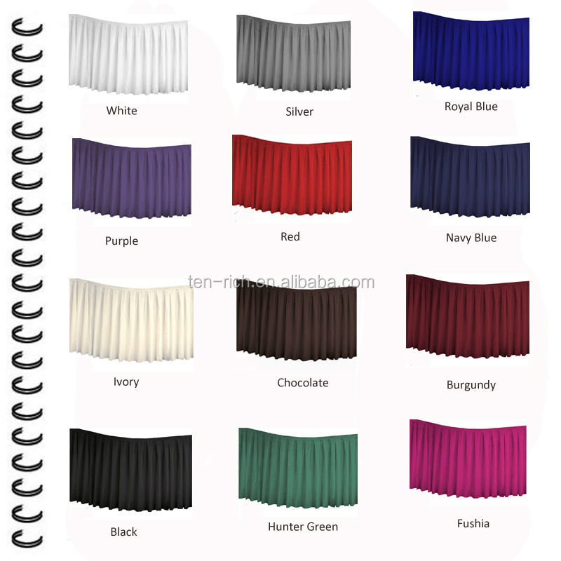 table skirt color chart