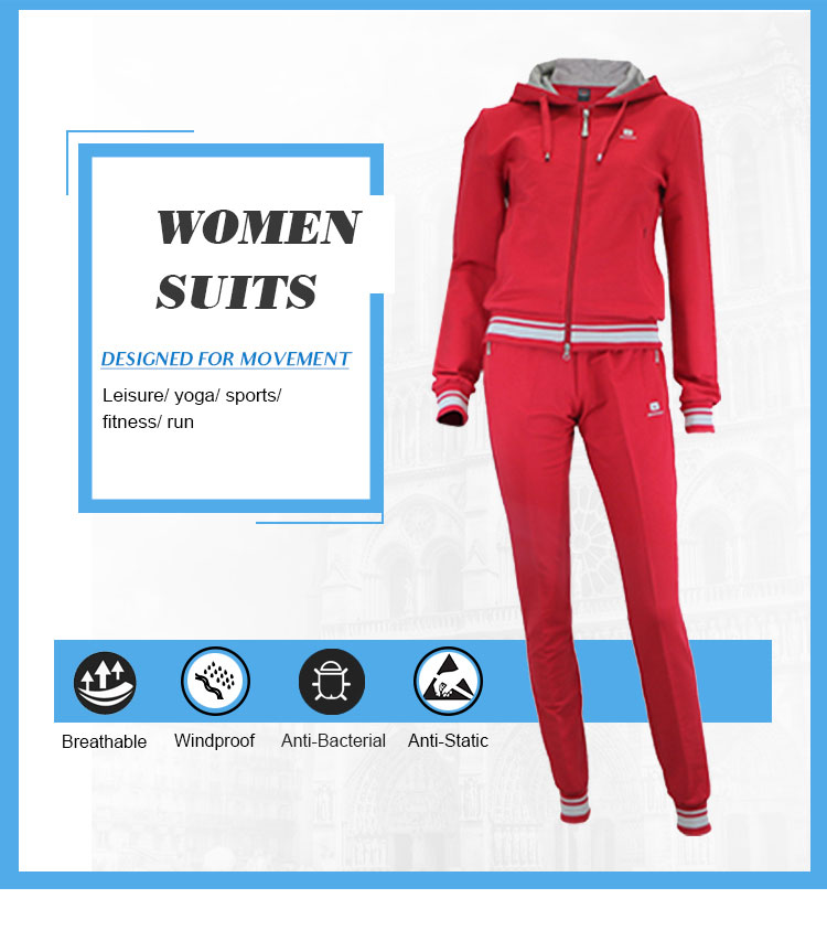 two piece set women clothing jogging suits wholesale custom made hooded  ladies plain polyester 2 piece ef528a8ccee
