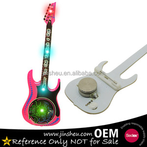 Promotional light up rock band concert goods guitar led flashing pins