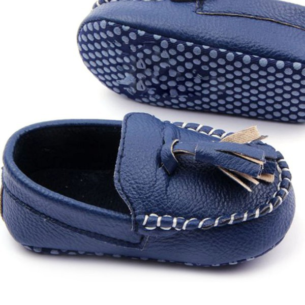 46daa8695b8 2019 Wholesale Baby Toddler Girls Boys Loafers Soft Faux Leather ...