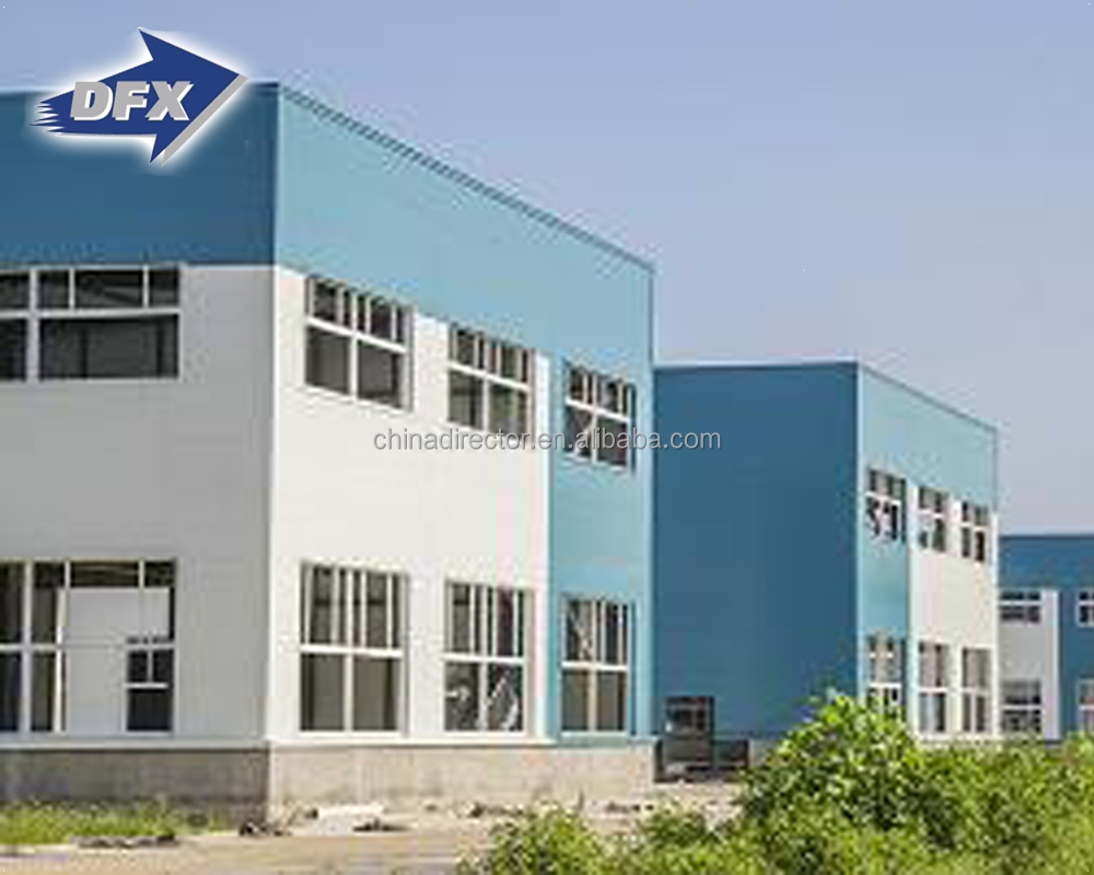 Qingdao low cost safe structure H section prefabricated high rise insulation steel building