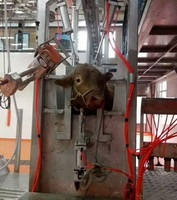 cattle pneumatic slaughtering equipments killing box