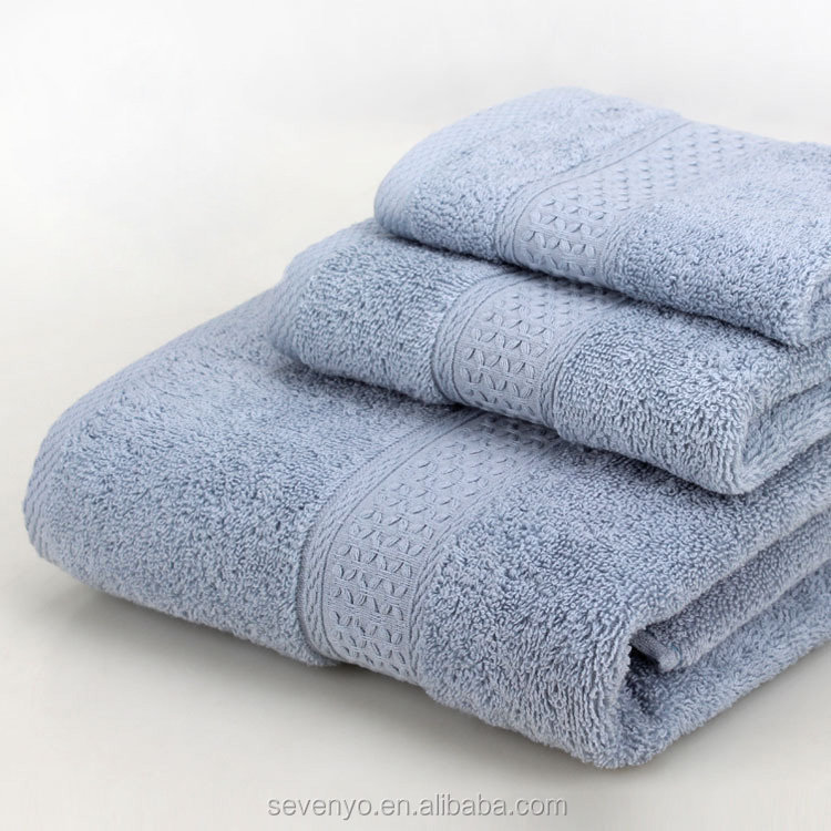 Luxury Egyptian cotton Plain Jacquard Satin Bath Towel Set Home Hotel Spa Water Absorbent Washcloths HTS-123 wholesale