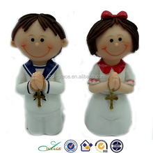 Resin European style 1st communion baptism souvenirs