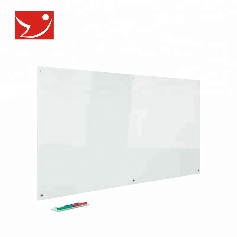 Wit marker draagbare droge wissen transparant glas magnetische whiteboard board