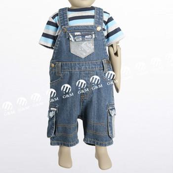 b5fb1cf99 Baby Boys Overalls Children Jeans Denim Jumpsuit Infant Trousers ...