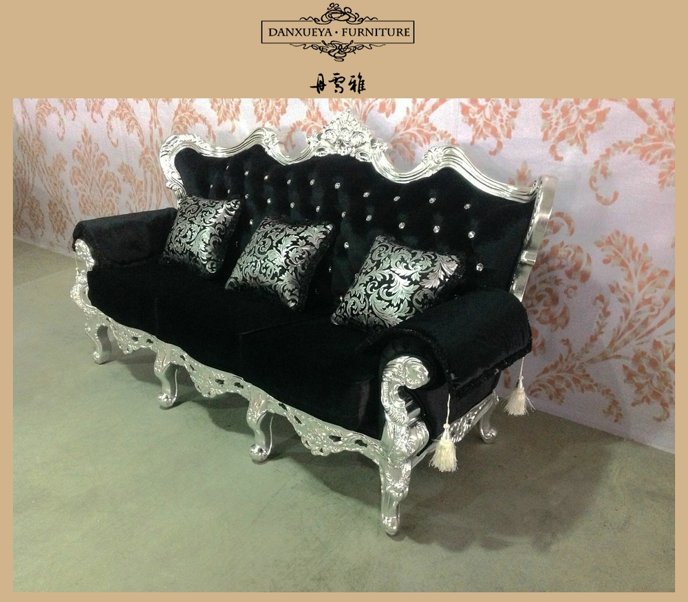 Provincial Living Room Furniture French Provincial Sofa Sethigh End Black Velvet Living Room