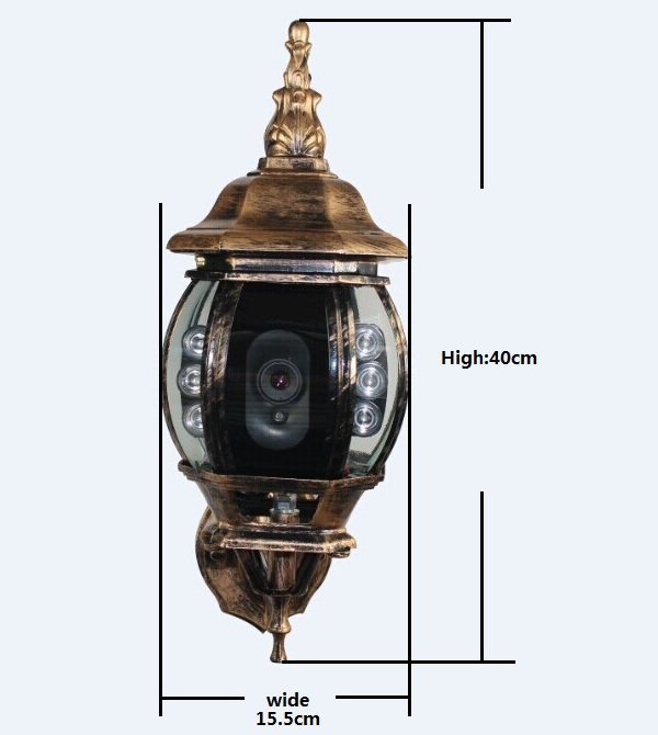 Porch Light With Camera: Wireless Wifi Full Hd 1080p Ip Ir Street Light Camera