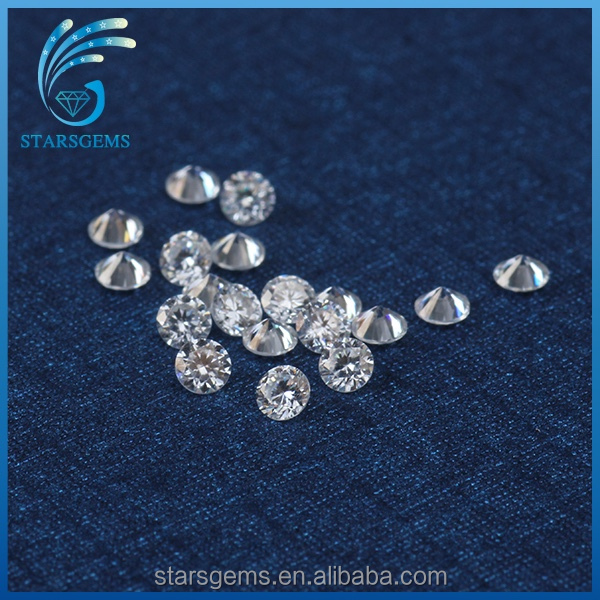 hot sale forever brilliant quality 2.0mm 3 <strong>points</strong> round moissanite diamond for sale