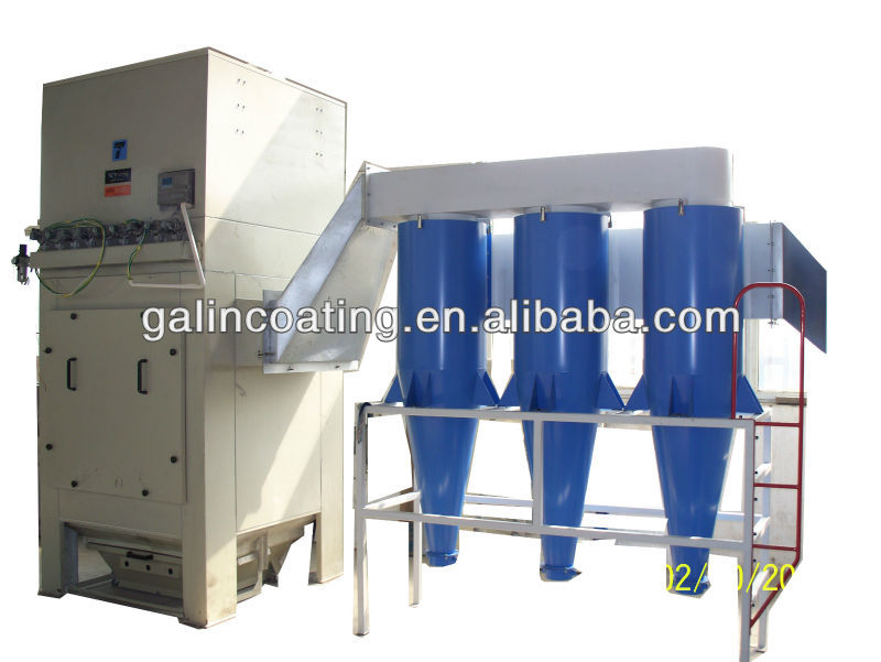 gema powder recovery system for powder coating system