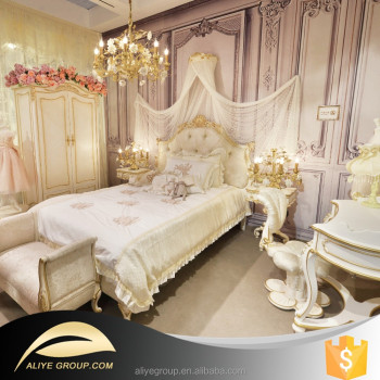 Ak12 High End Solid Wood French Style Furniture Children Bedroom Set Made In China
