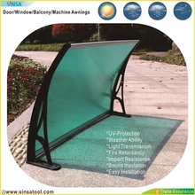 Easy DIY Solid Polycarbonate Rain Awning Aluminum alloy metal bracket 100X120CM