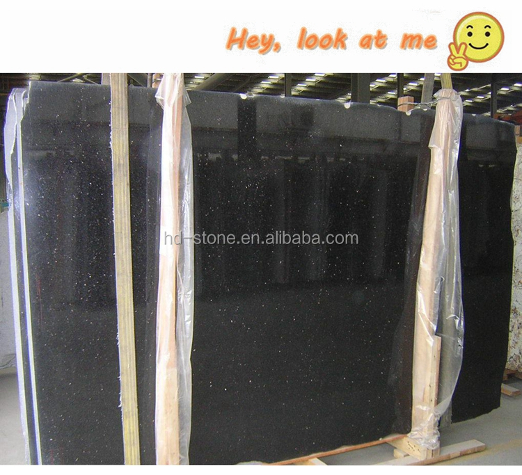 Black Galaxy Granite Slabs, Cosmic Black Galaxy Polished Granite with Cheap Price