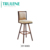 2018 hot sale design fabric leather seat wooden stool high bar chair for bar table kitchen