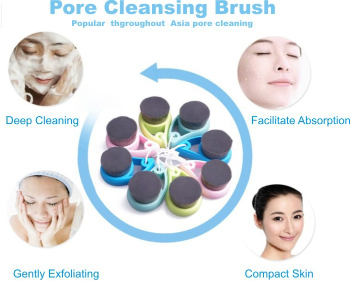 High Quanlity Nano Bamboo Charcoal Face Cleaning Brush