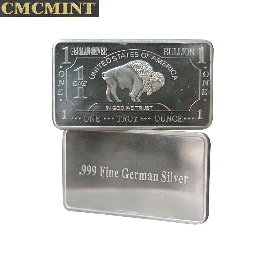 2020 Gratis Monster Oude Munt Prijs 1 Oz Duitse Silver Buffalo Bars