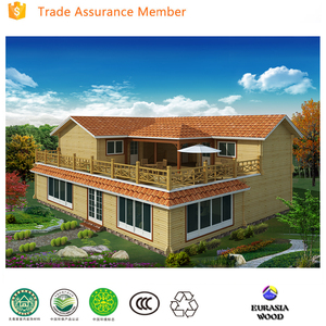 comfortable living wooden house wooden block house villa architectural design