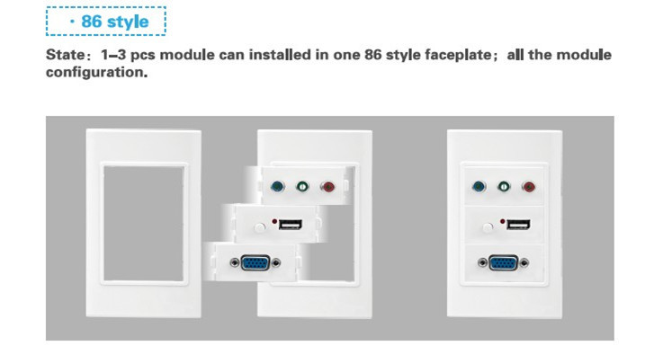 120 type Smart home wall plate faceplate for module smart home wall plate frame