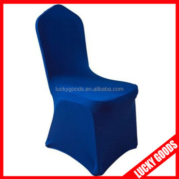 Universal Navy Blue Banquet Chair Covers For Sale