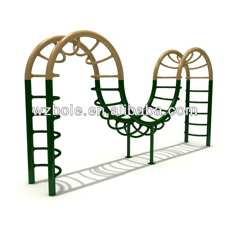TUV,CE and GS approval of outdoor exercise equipment Jungle Gym
