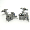 Custom Logo Stainless Steel Cufflinks