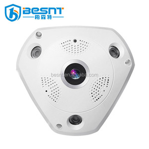 3D view 360 degree panoramic 960P fishieye wifi ip camera connect to smart mobile phone day night BS-VR360A