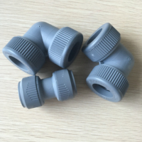 15mm grey push-fit Elbow with inserts