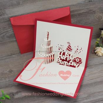Fantastic 3D Pop Up Laser Cut Wedding Invitations Congraduation Birthday Personalised Birthday Cards Petedlily Jamesorg