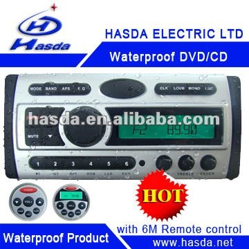 Waterproof DVD with LCD screen and radio used in boat,yacth, Sauna room,bathroom,runabout,Hasda H-3008T