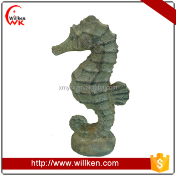 Resin sea horse figurine decor
