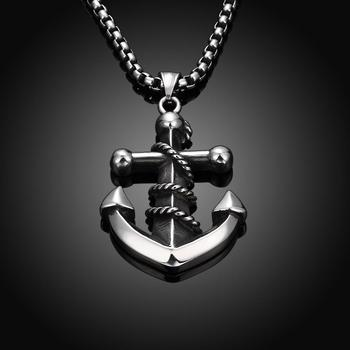 Tryme new trendy mens plating guns stainless steel anchor necklaces tryme new trendy mens plating guns stainless steel anchor necklaces pendants for men bijoux gift fashion aloadofball Image collections