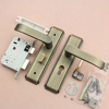 High quality stianless steel304 toilet cubicle door lock with 5050 lock cylinder